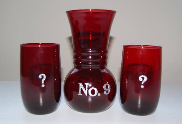 Potion number nine glassware