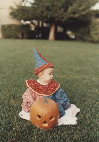 Halloween clown baby
