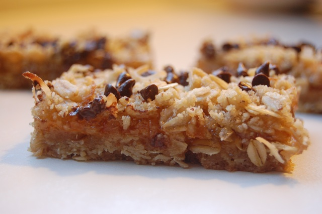 Orange chocolate oat bars 1