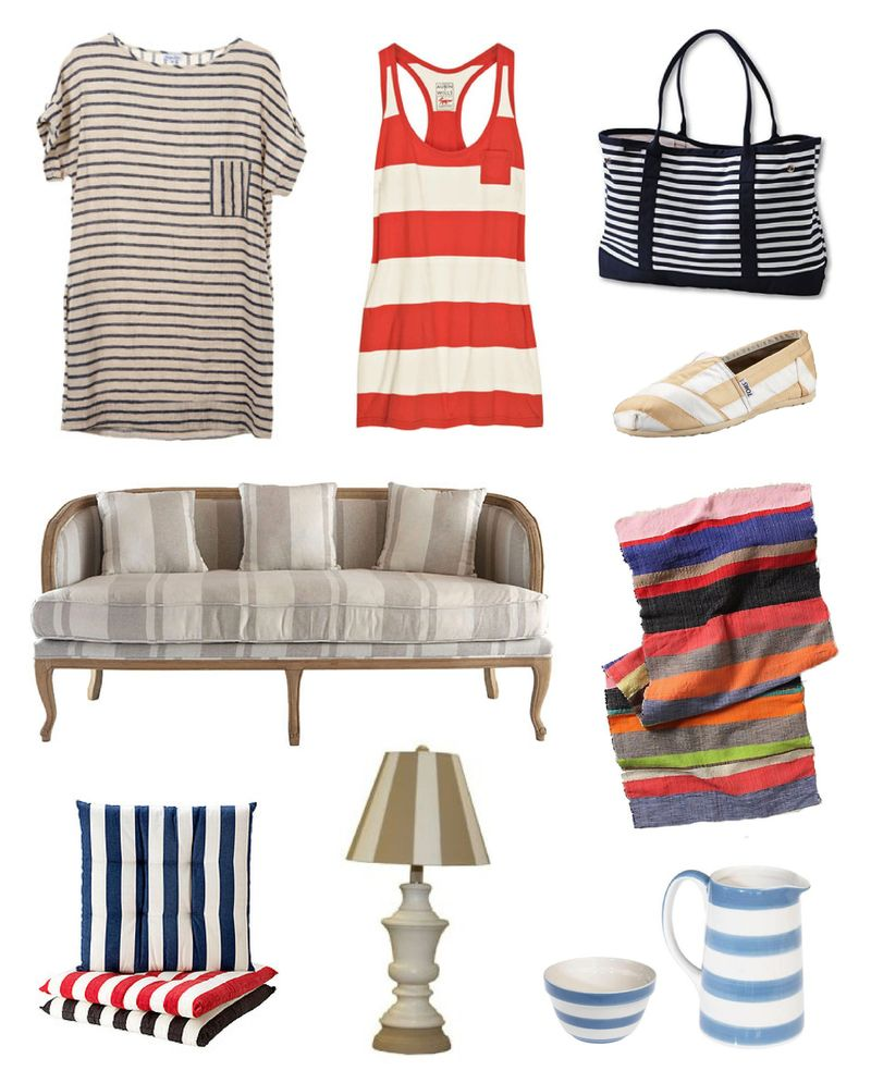 Stripes interior design fashion trends spring 2010 3