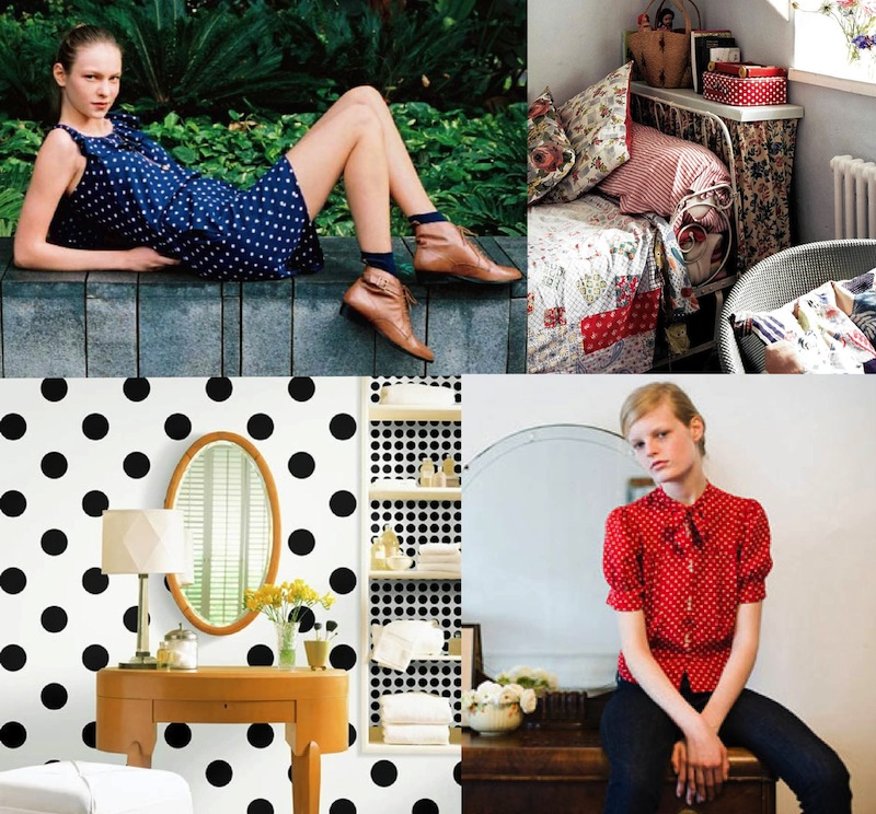 Spring 2010 inspiration boards fashion interior design polka dots 3 cath kidston kate spade 1