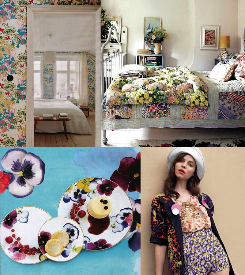 Spring 2010 trends florals fashion interior design inspiration board2