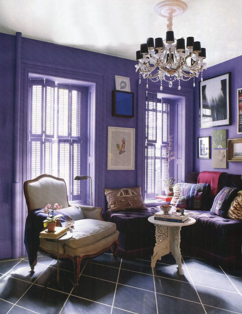 House beautiful purple dining room august 2010