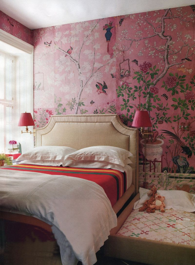 House beautiful bedroom trundle bed chinoiserie