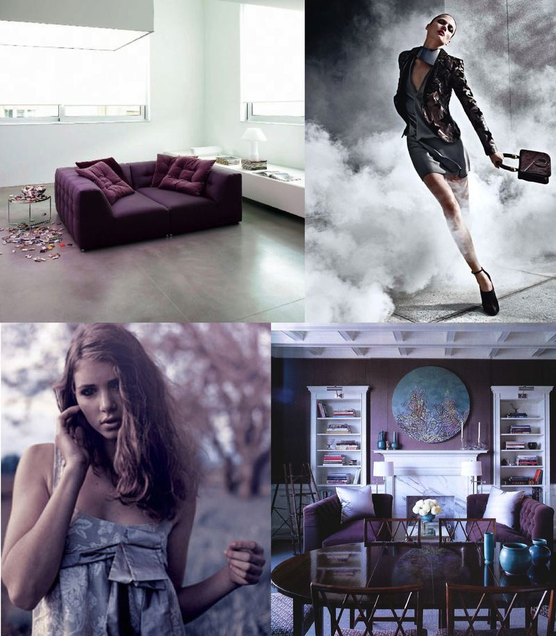 City sage purple drama inspiration board