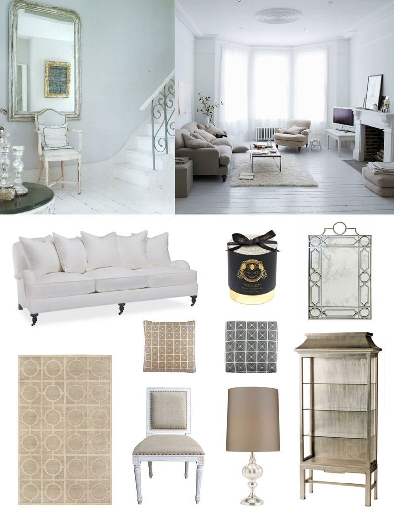 Layla grayce furniture french country romantic pink grey inspiration board interior design