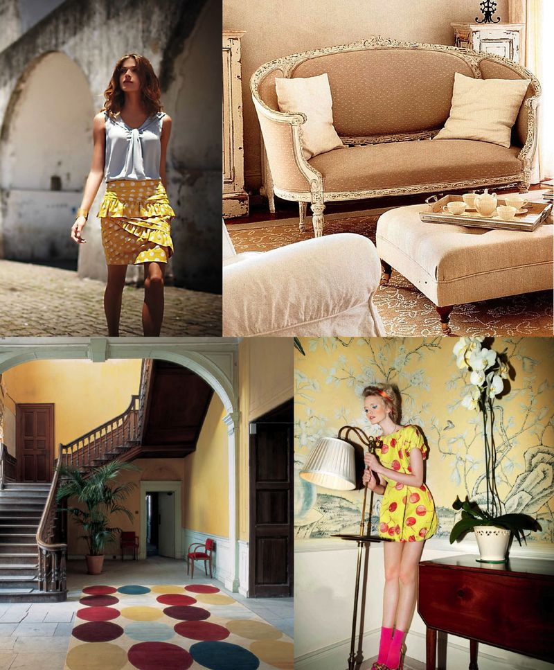 Spring 2010 inspiration boards fashion interior design polka dots 2