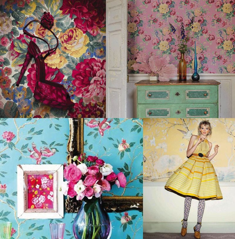 Spring 2010 trends florals fashion interior design inspiration board