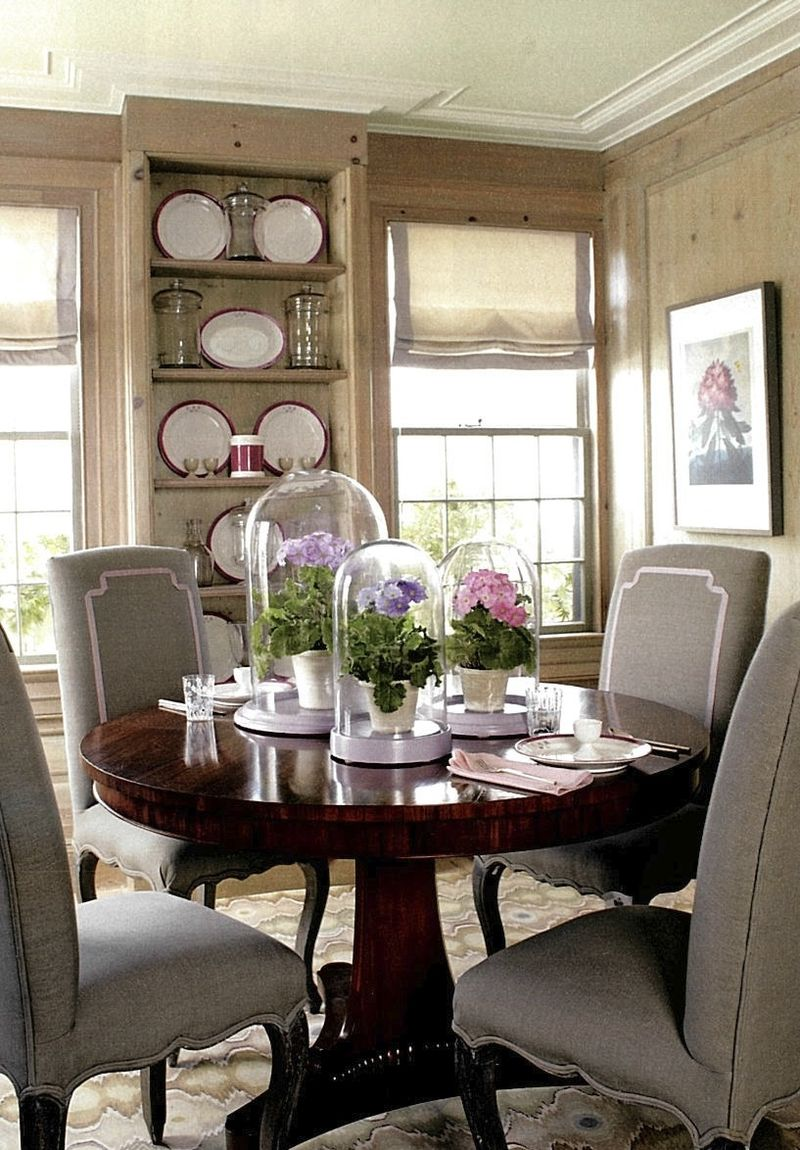 Martha stewart grey lavender dining room