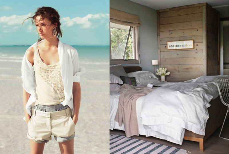 Beach house style outfit to room inspiration
