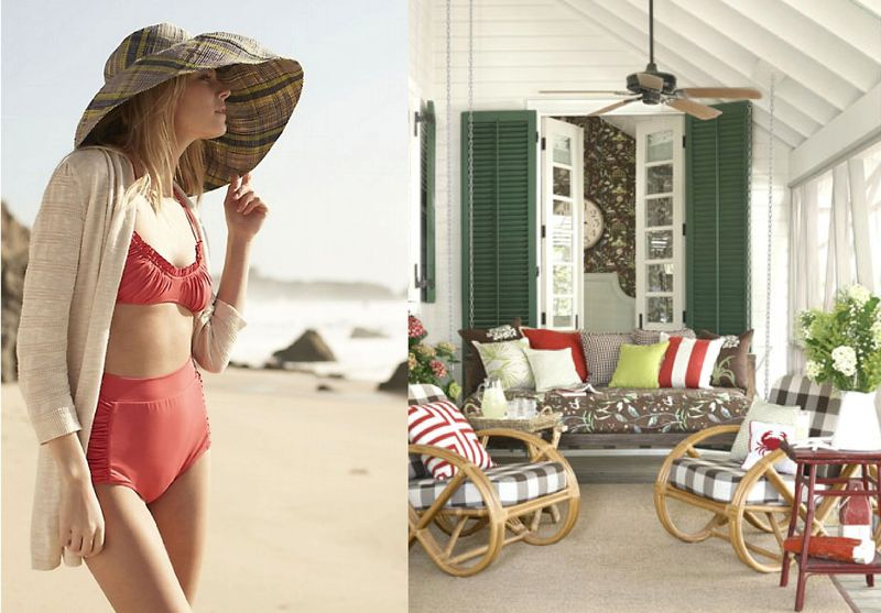 Beach house style outfit to room inspiration6