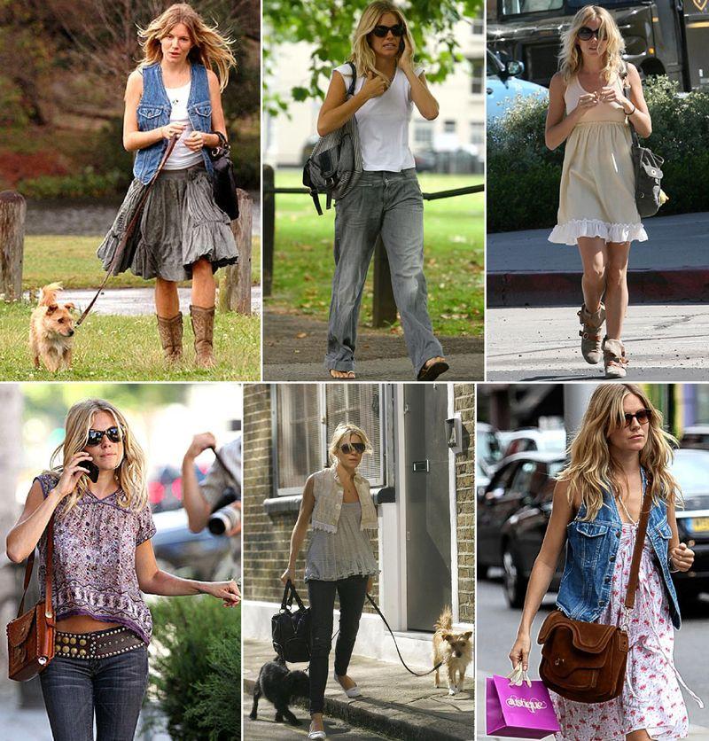 Sienna miller fashion boho styl