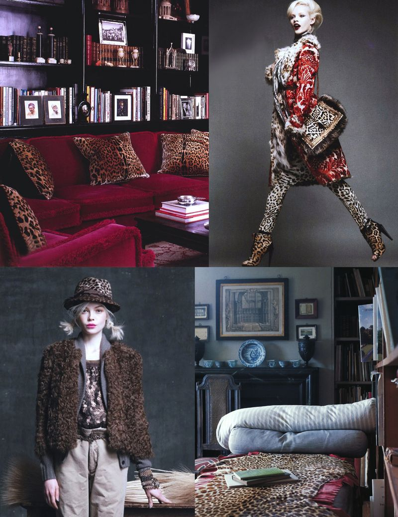 Leopard fall 2010 fashion interior design trend inspiration board