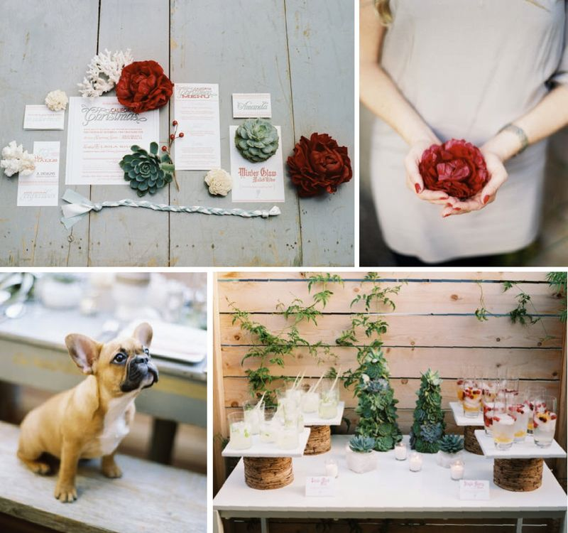 JL designs be inspired PR christmas inspiration board weddings beach