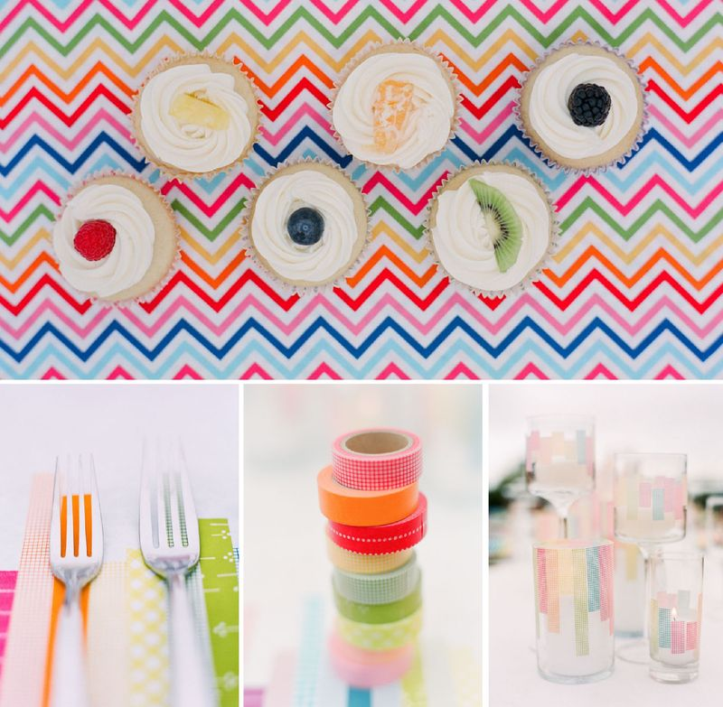 Kelly oshiro rainbow party wedding inspiration board 3