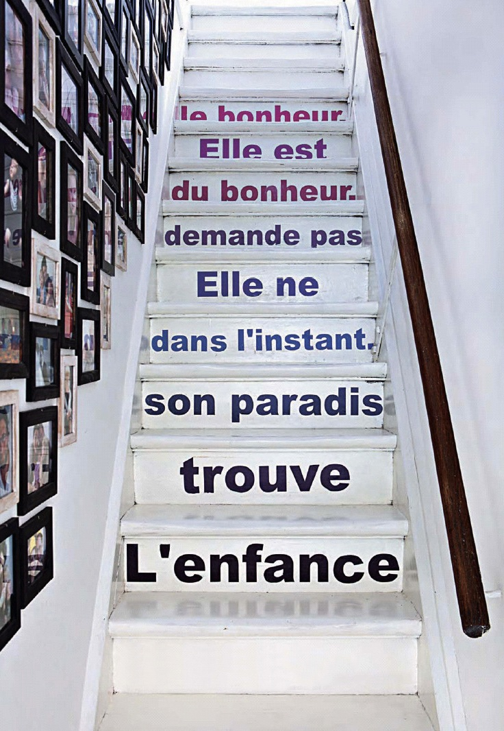 Marie claire maison stairs writing gallery wall