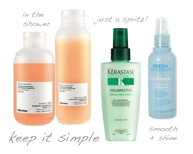 Hair essentials volume smooth shiny