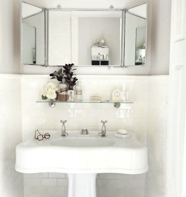 House beautiful bathroom white neutral traditional