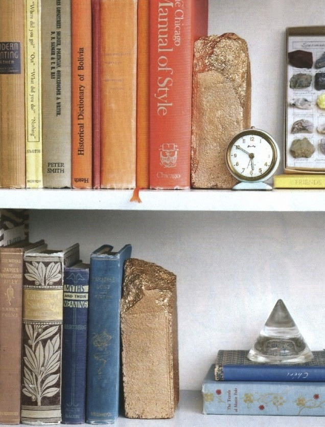 Martha stewart book end DIY bricks