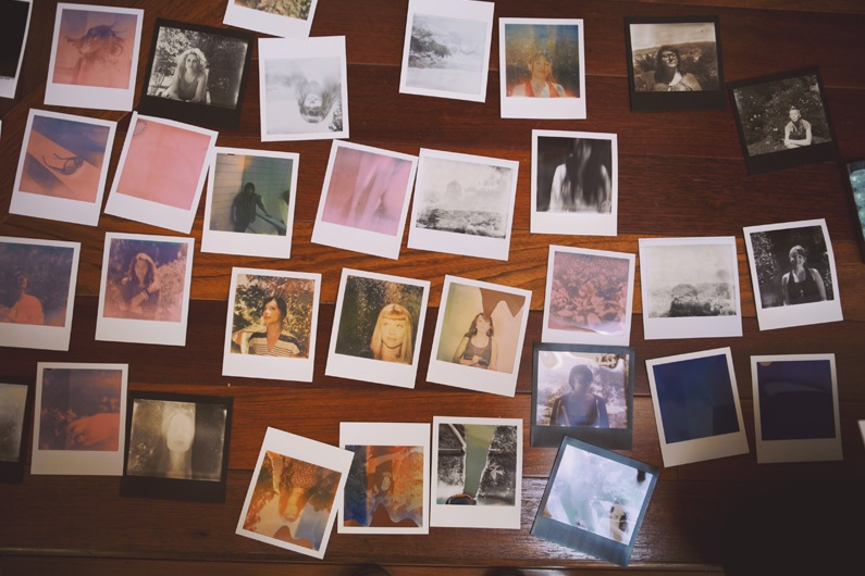 Noa feather love photography chloe aftel polaroid portraits