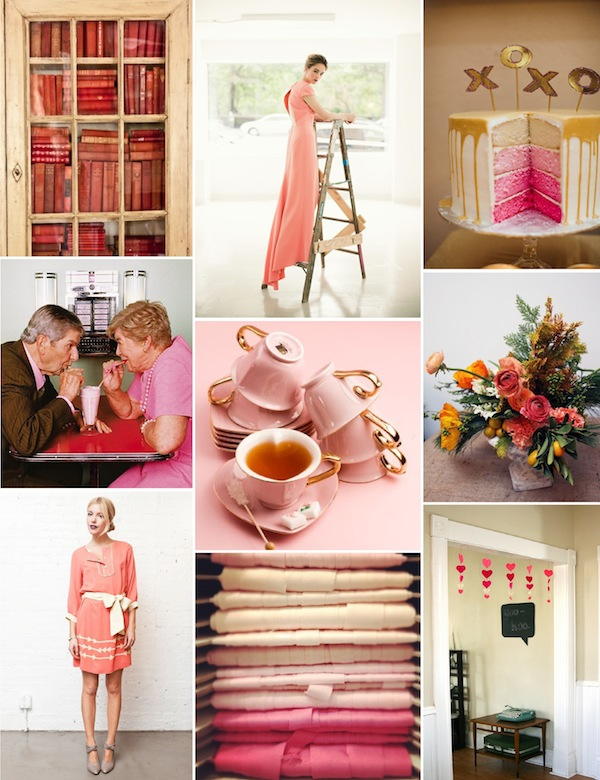 Valentine's day inspiration board pink and red galentine's day parks and rec