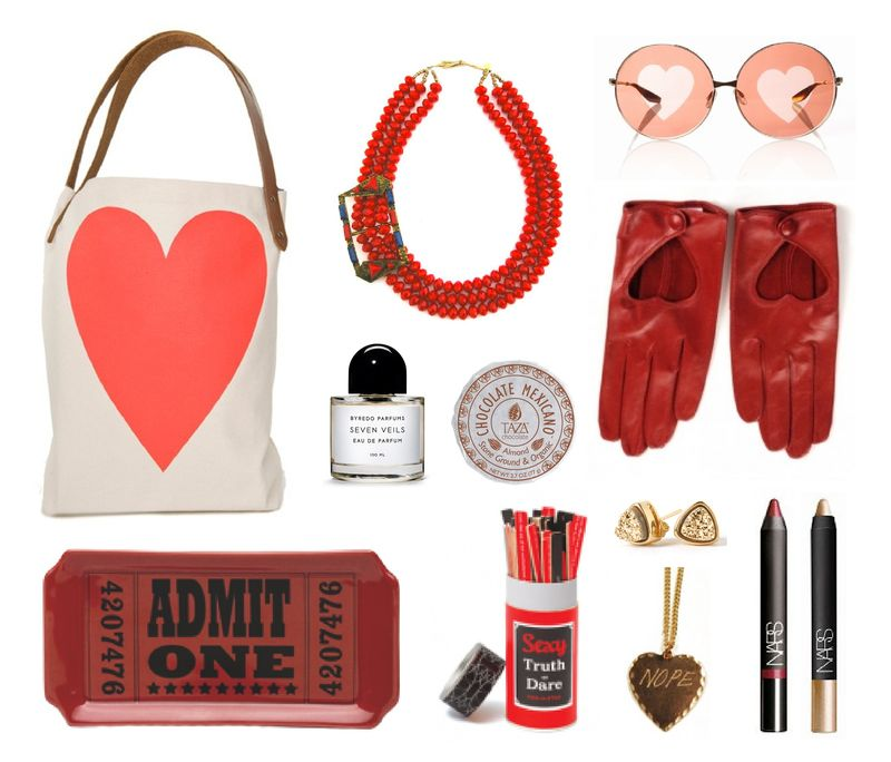 Valentine's day inspiration board pink and red galentine's day parks and rec shopping