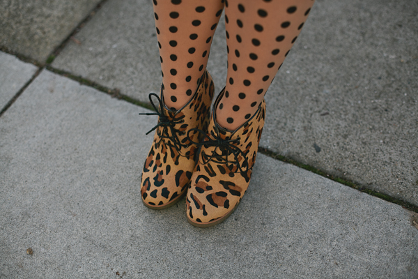 Shoemint leopard oxford wedge