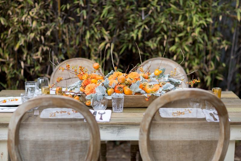 Thanksgiving table setting decor