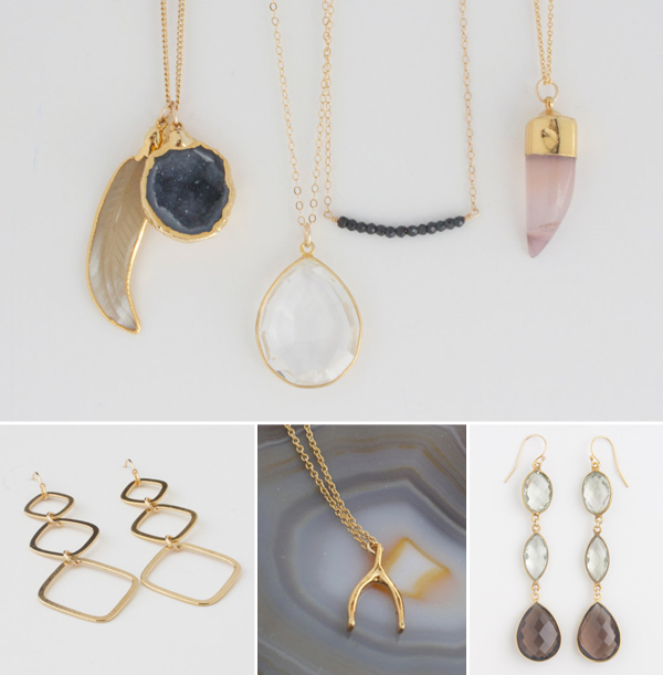 Modern-feminine-quartz-druzy-jewerly-giveaway-gold