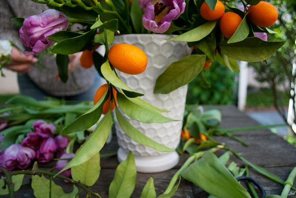 Target vase spring flower arrangment DIY