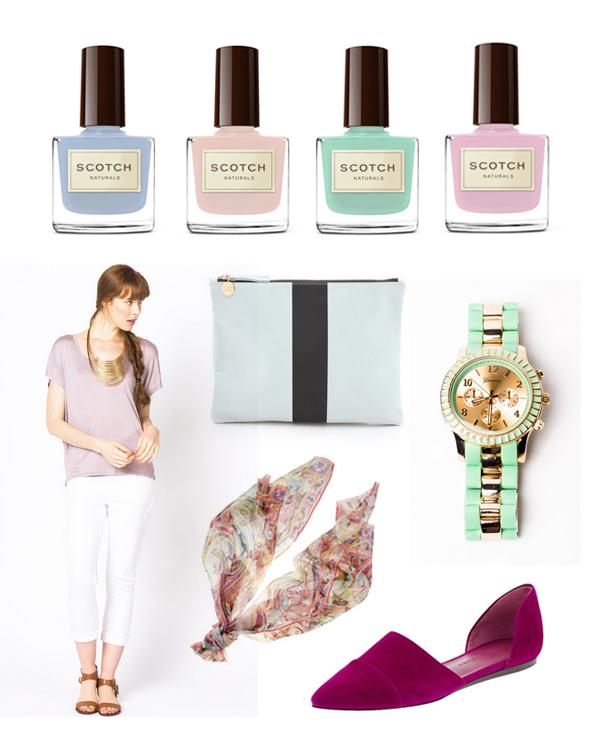 Spring pastel color palette