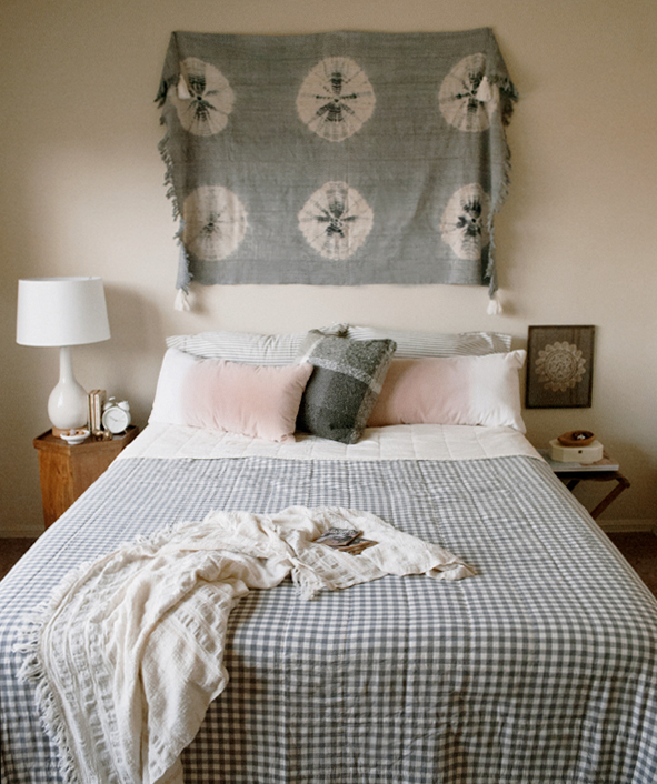 Tie dye boho bedroom