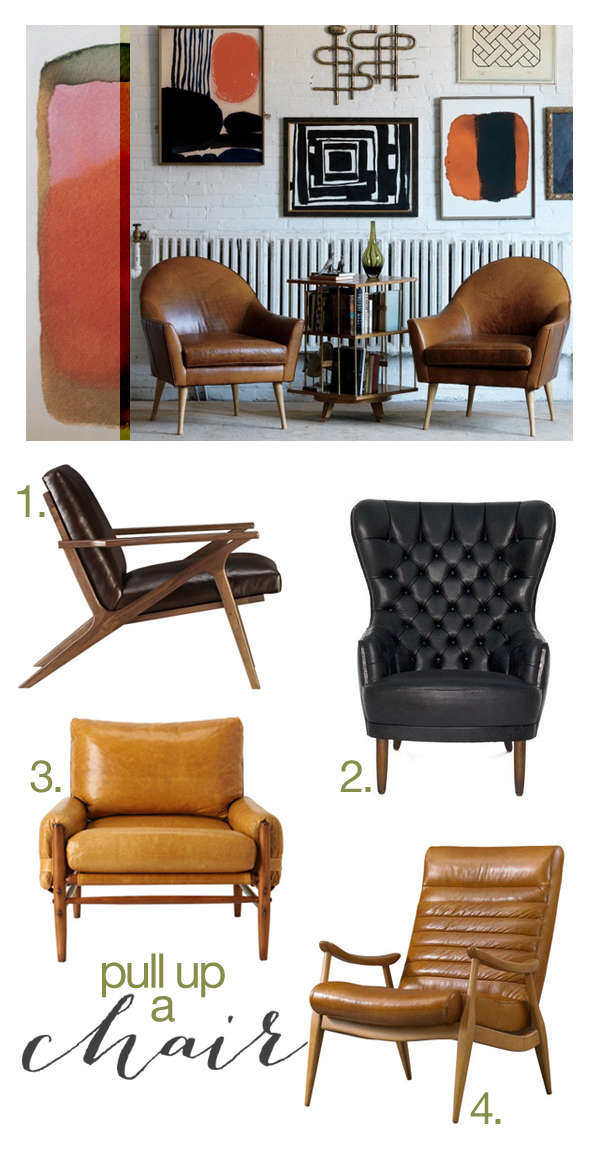 Leather-chairs
