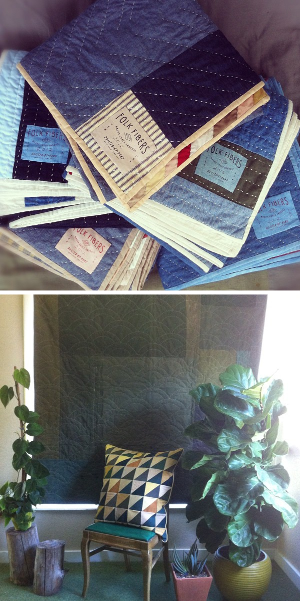 Folk-fibers-levi's-made-here quilts
