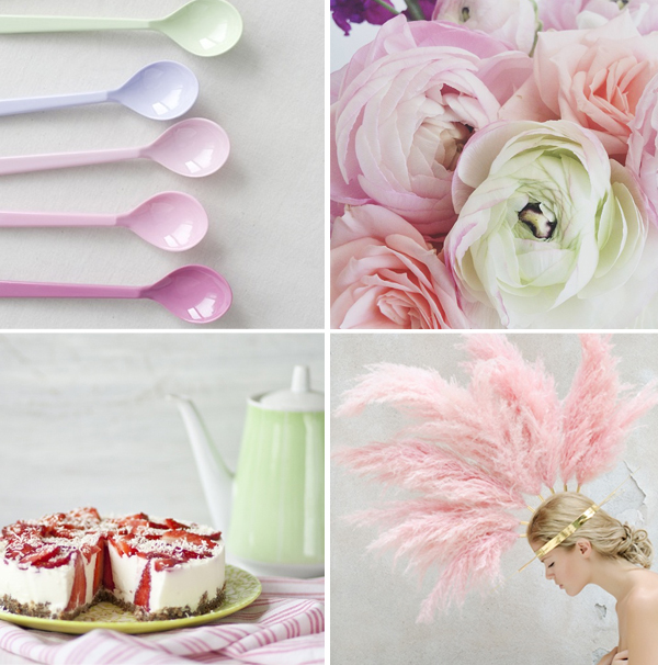 Pastel color palette for easter