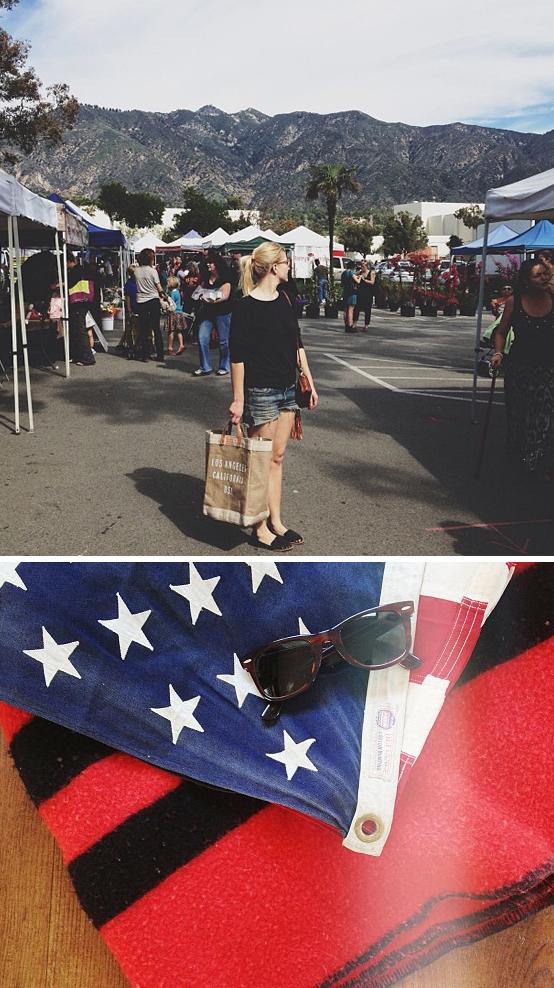 Farmers market american flag