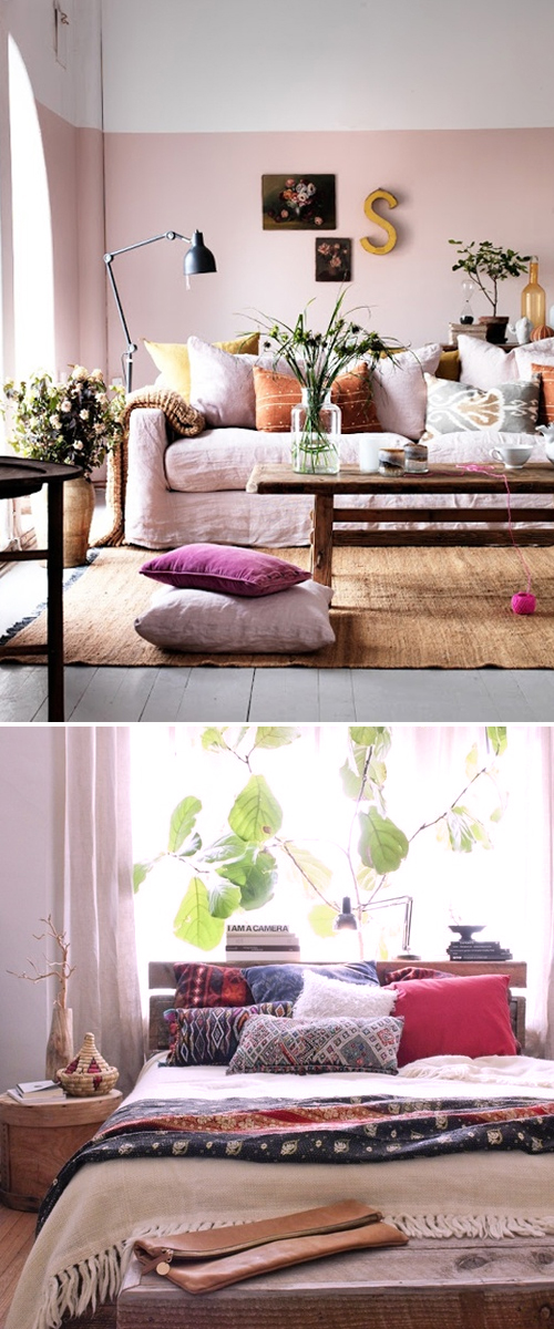 Colorful pillows for home decor