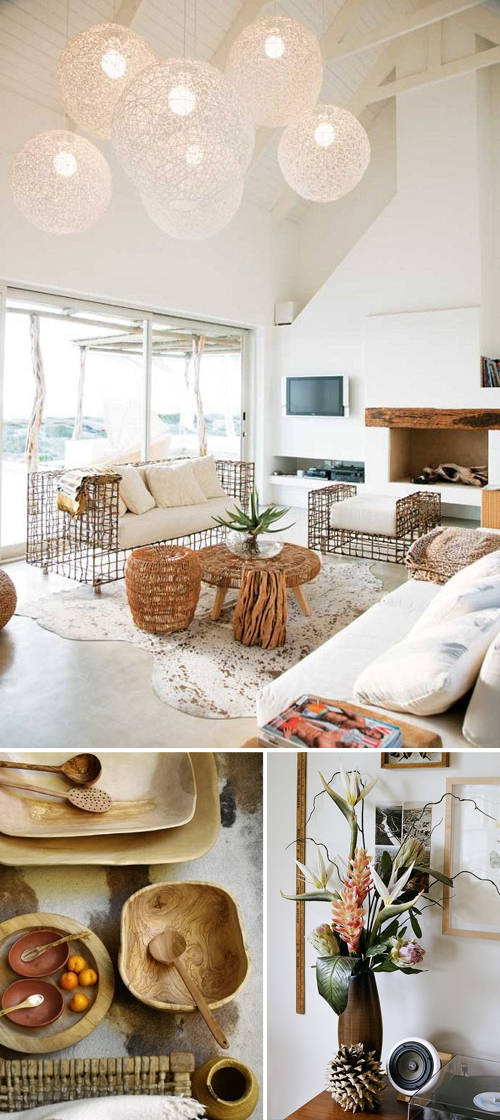 Textured neutral decor
