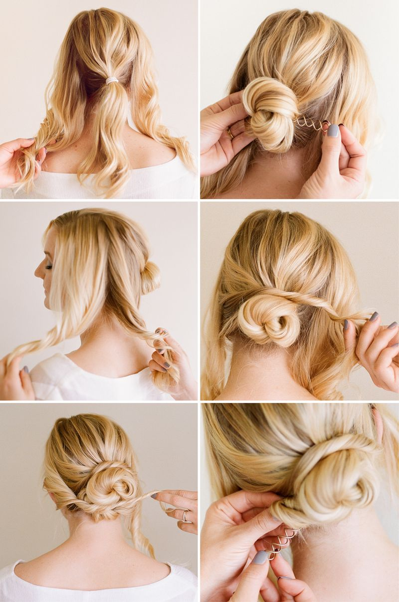 Simple + pretty updo tutorial