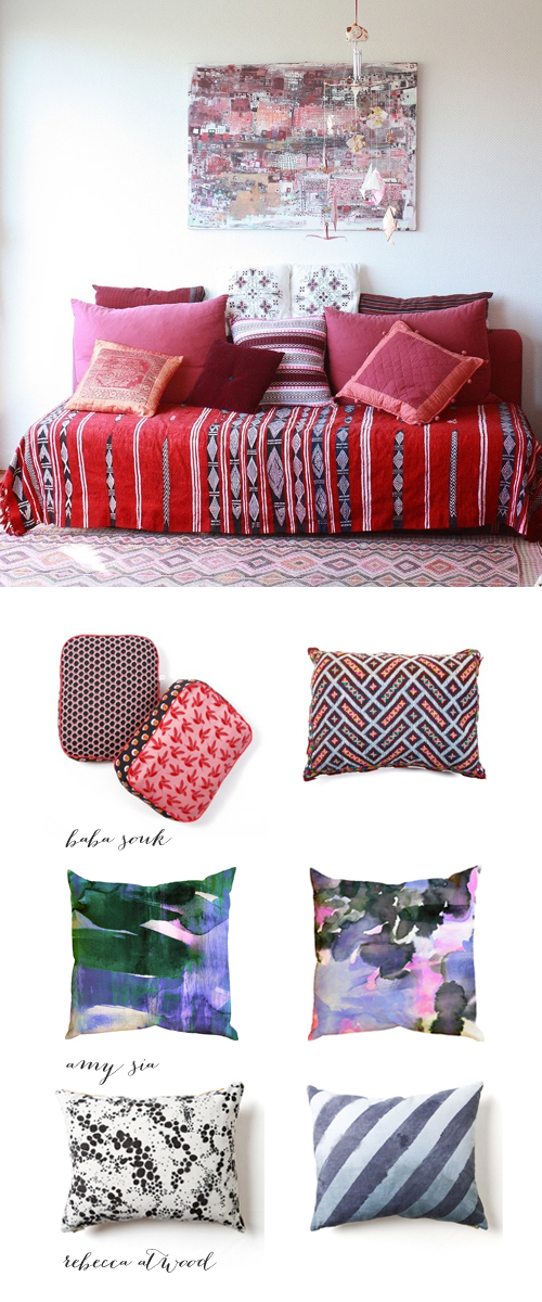 Best colorful throw pillows