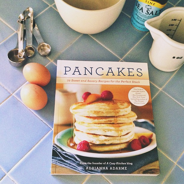 A cozy kitchen pancakes book
