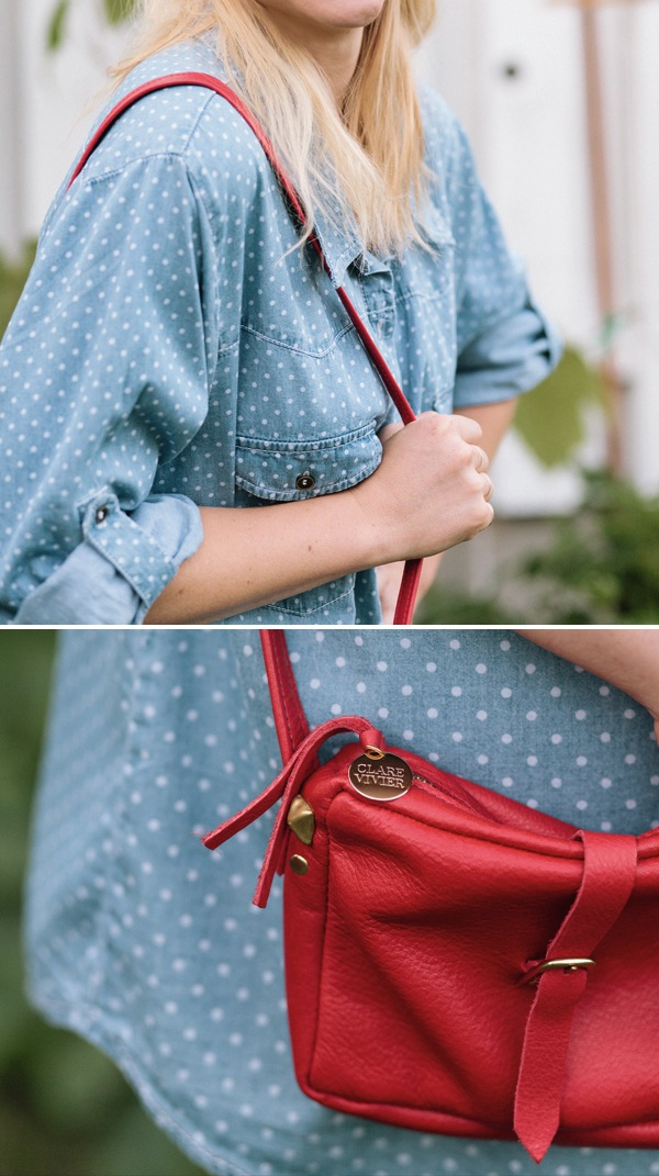 Red clare vivier bag