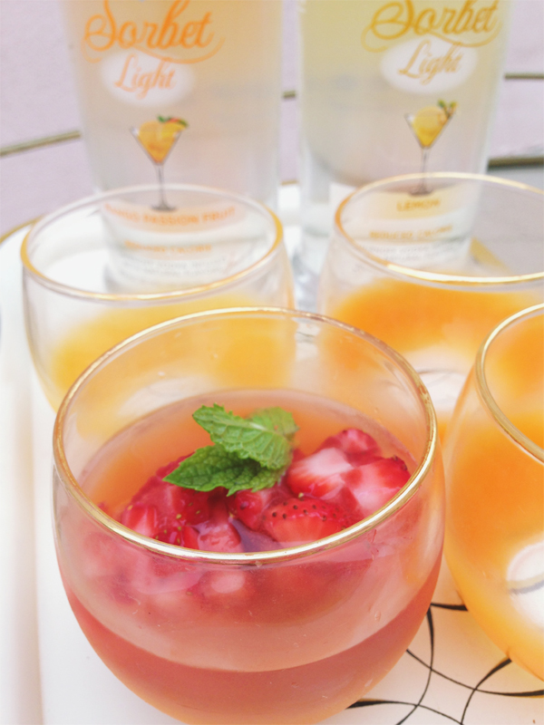 Summer fruit cocktails