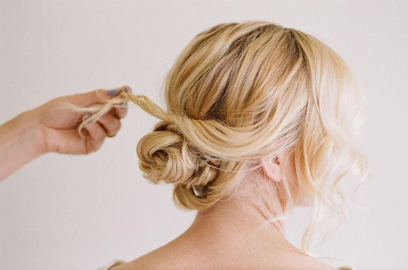 Soft + pretty updo