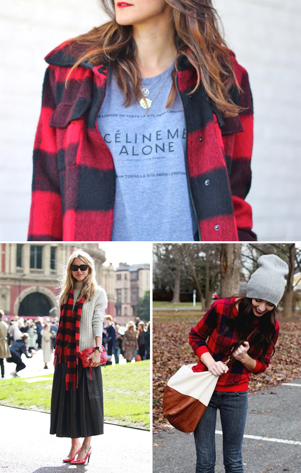 Buffalo plaid styling