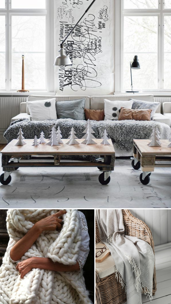 Knit throws for fall