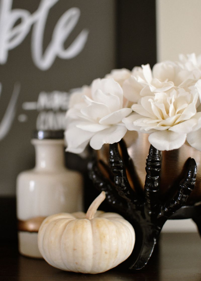 Black + white halloween decor