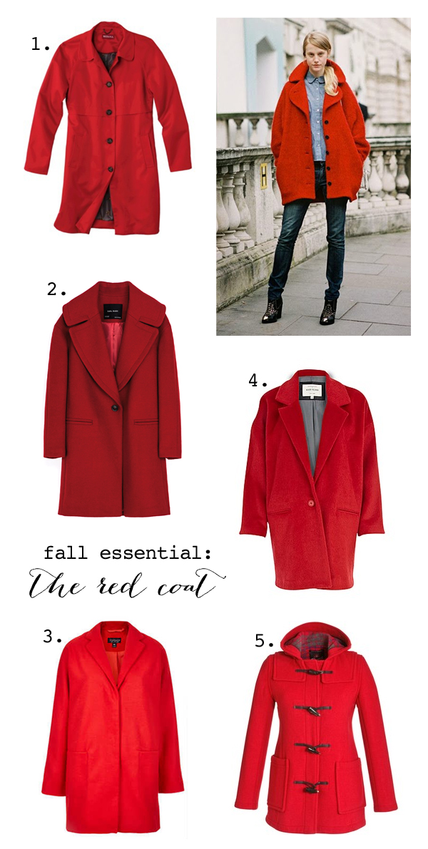 Red coats for fall