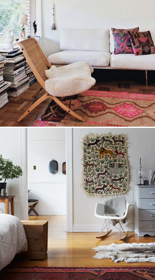 Hide rugs