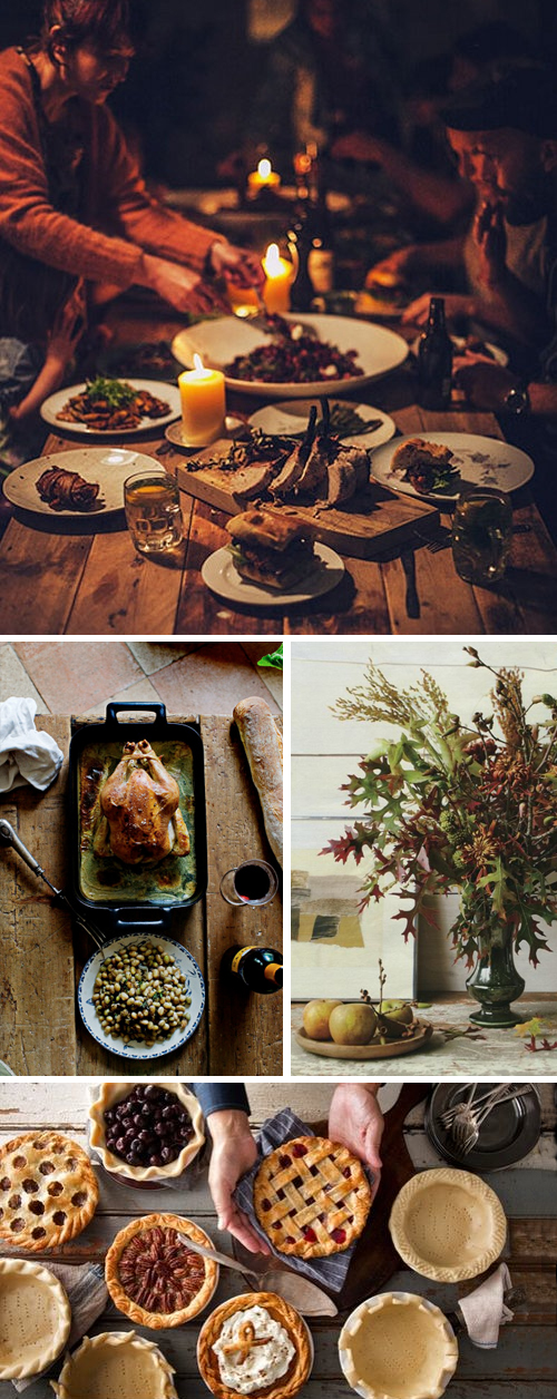 Rustic glam thanksgiving table anne sage Thanksgiving table decorations homemade